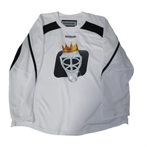 PRACTICE JERSEY GOALIE KING SENIOR WHITE / BLACK