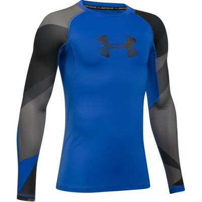 UNDER ARMOUR FITTED LONG SLEEVES SHIRT HEATGEAR BOYS